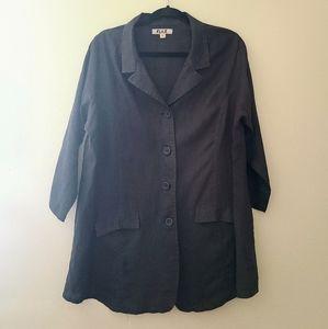 Flax Linen Jacket, Size Large
